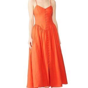 Mara Hoffman burnt orange dress E43